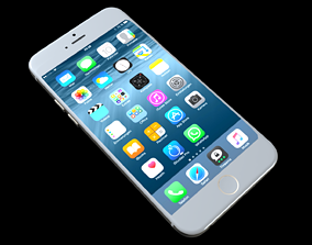 3D asset iPhone 6 Low Poly and High Poly