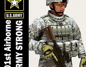 3D US Army 101st Airborne Division Captain MAX