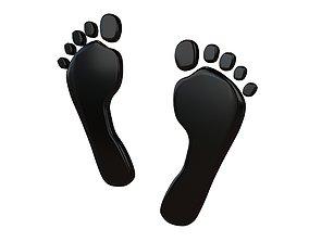 3D asset Foot Prints v2 002