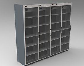 Showcase refrigerator 3D model
