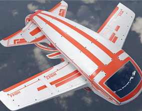 Aircraft punk 3D model VR / AR ready
