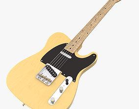 realistic Fender guitar 3D model