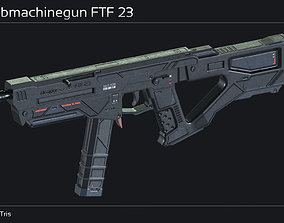 Scifi Submachinegun FTF 23 3D model