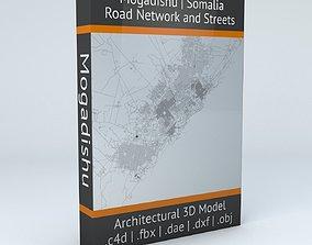 3D Mogadishu Road Network and Streets