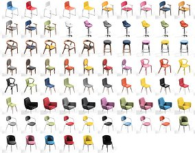 Chair Pack collection 11 main models Plus 79 color
