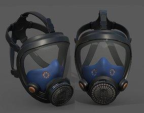 3D model Gas mask helmet protection classic fantasy