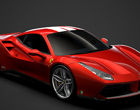 Ferrari 488 GTB The Schumacher 2018 3D model