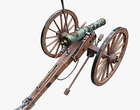 6-pounder Smoothbore Field Cannon 3D model