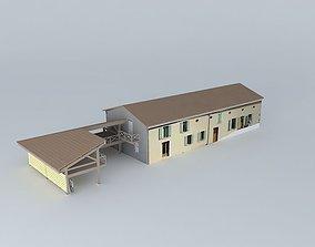3D model sheltered workshop and garage extension
