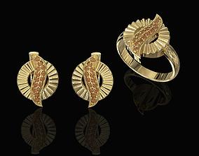 3D print model Polygonal circle Earrings and Ring