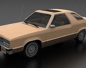 Fairmont Futura 1978 and 5 exterior custom parts 3D model