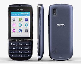3D asset Nokia Asha 300 Dark Blue