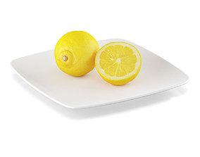 3D Lemon fruits