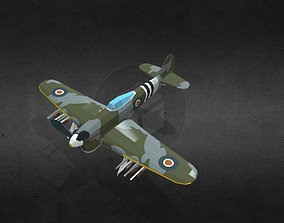 3D model Hawker Typhoon EK139N