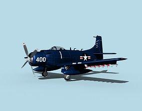 Douglas A-1H Skyraider V01 USN 3D