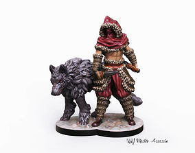 3d printable Wolf Master Assassin Miniature wargame