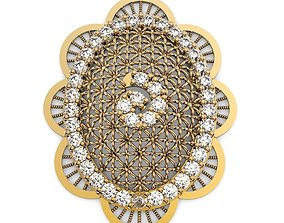 Middle East Style 3D Jewelry Pendant printable model gold