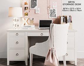 Bryn Storage Desk 3D