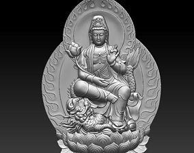 bas-relief Kwan Yin 3D