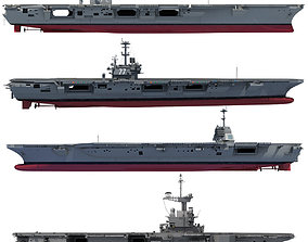 3D model Set of Military Carriers