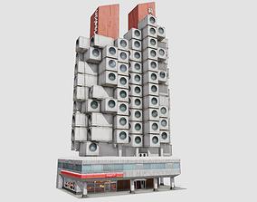3D model Tokyo Capsule Hotel