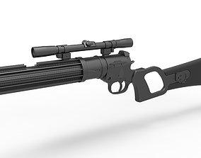 Boba Fett blaster carbine EE-3 from the movie Star Wars 3D