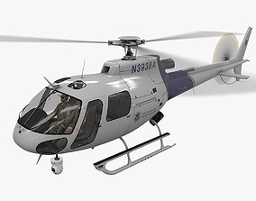 AS-350 US Customs And Border Protection Animated 3D model
