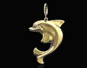 3d 3D printable model Dolphin pendant