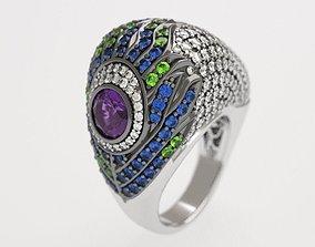 Carrera peacock ring - replica 3D print model