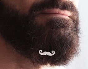 3D print model Mustache for beard - front wearing