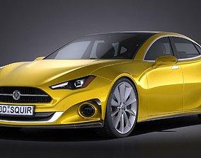 3D model Generic Car Sport Sedan 2016
