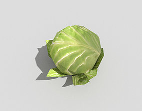 low poly cabbage 3D model