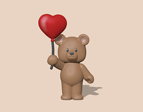A cute Heart Bear - Valentines Day 3D print model