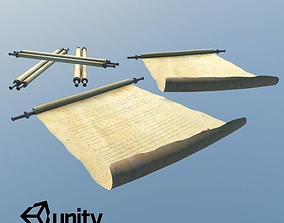 3D asset Medieval Scrolls