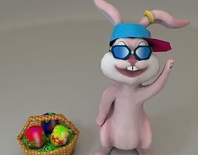 3D asset animation Low Poly Easter Bunny Game Ready