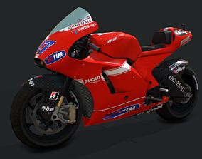 3D asset game-ready Bike Racing Ducati