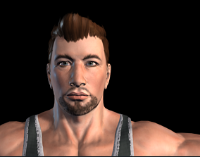 animated BodyBuilder Man Model
