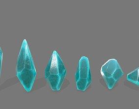 crystal set 3D asset VR / AR ready