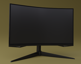 3D asset Curved monitor