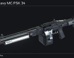 Scifi Heavy MG FSK 34 3D model