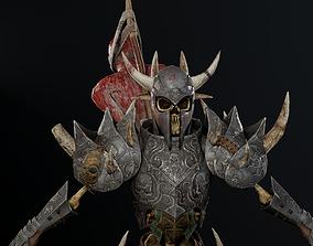3D model animated Sekeleton Heavy Warrior