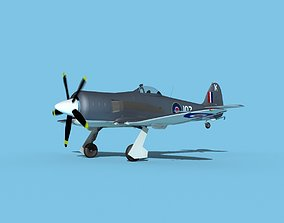 3D Hawker Sea Fury V11 Royal Australian Navy