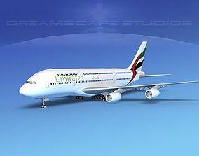 Airbus A380-800 Emirates 3D model
