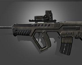 Tar 21 Tavor IWI Assault Rifle 3D asset