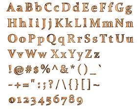 English Letters - Wood 3D asset