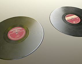 Old gramophone disk 3D asset