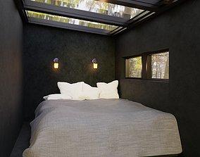 Hidden Bedroom in Nature 3D model