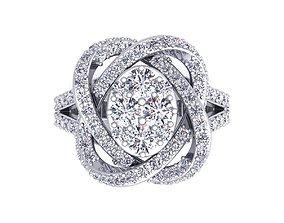 3D printable model Fancy Diamond Ring ring