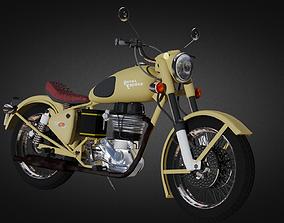 3D asset Royal Enfield Bullet Bike
