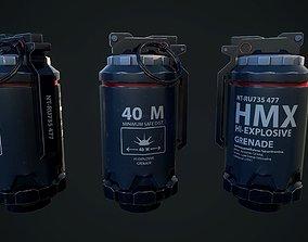 Scifi Grenade 3D asset game-ready